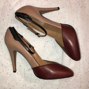 Valentino Garavini Two Toned Ankle Strap Heels